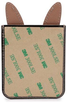Мужского накладной кожаный футляр на iphone с аппликацией KATE SPADE NEW YORK коричневого цвета, арт. 8ARU2654 | Фото 2