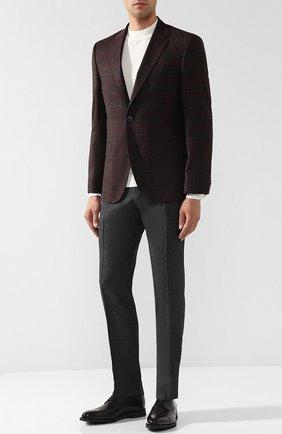 Шерстяные брюки прямого кроя Sand темно-серые | Фото №1