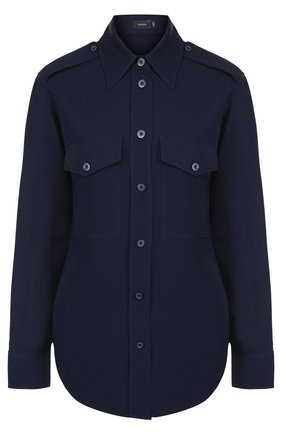 Женская однотонная шелковая блуза с накладными карманами Joseph, цвет кремовый, арт. JF001943 в ЦУМ | Фото №1