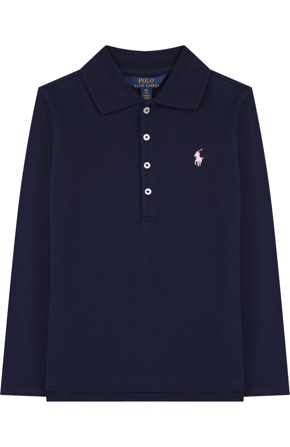 09f340e9f5a3 ... рукавами Polo Ralph Lauren. Хлопковое поло с длинными рукавами   Фото №1