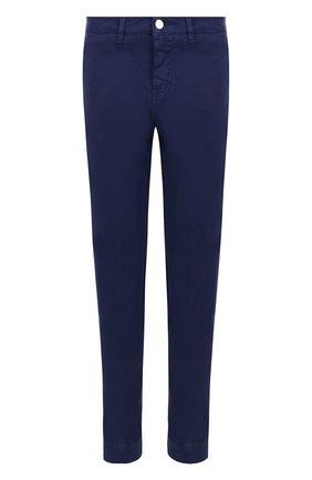 Укороченные хлопковые брюки Two Women In The World синие | Фото №1