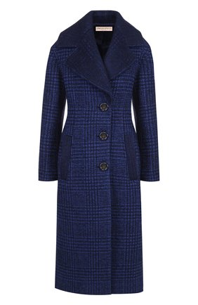 Шерстяное пальто с отложным воротником Emilio Pucci темно-синего цвета | Фото №1