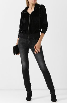 Женский кардиган на молнии с капюшоном TOM FORD черного цвета, арт. GIJ005-FAX227 | Фото 2