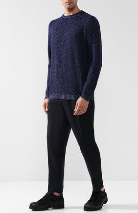Джемпер из смеси кашемира и шелка Cividini темно-синий | Фото №1