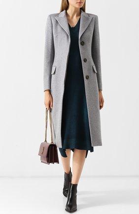 Приталенное кашемировое пальто Colombo светло-серого цвета | Фото №1