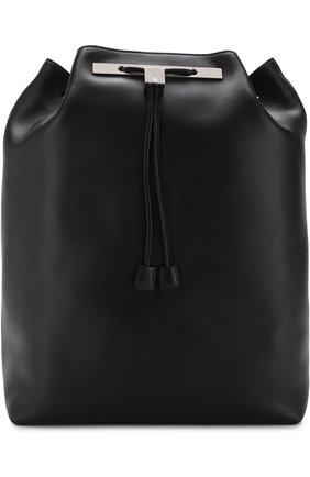 Рюкзак из кожи The Row черный | Фото №1