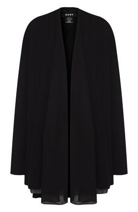 Однотонный кардиган свободного кроя DKNY черный | Фото №1