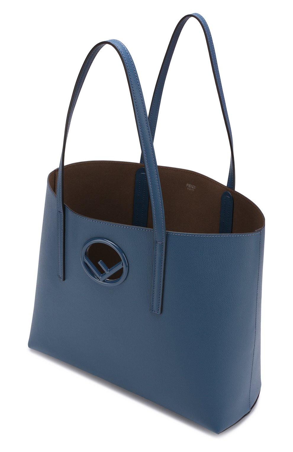 28c1ac628ba8 Женская сумка-шоппер kan i FENDI синяя цвета — купить за 81900 руб ...