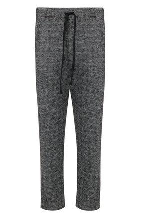 Укороченные брюки прямого кроя из смеси шерсти и хлопка Primordial is Primitive серые | Фото №1