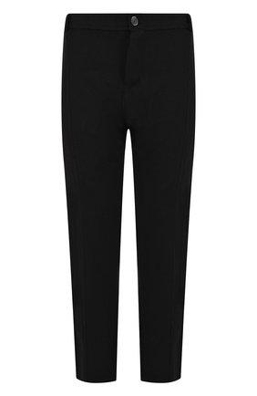 Шерстяные брюки прямого кроя Primordial is Primitive черные | Фото №1