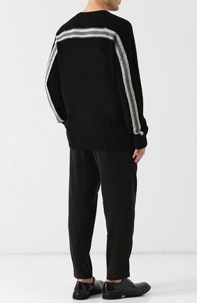 Кашемировый джемпер тонкой вязки Ziggy Chen черный | Фото №1