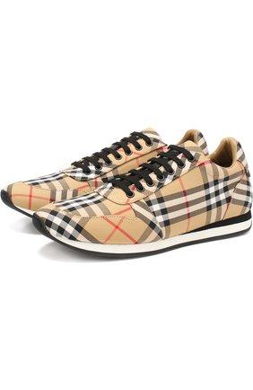 Текстильные кроссовки на шнуровке | Фото №1