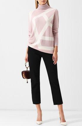 Кашемировый пуловер с высоким воротником Tse розовый | Фото №1