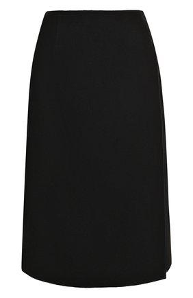 Кашемировая юбка-миди с запахом Tse фуксия | Фото №1