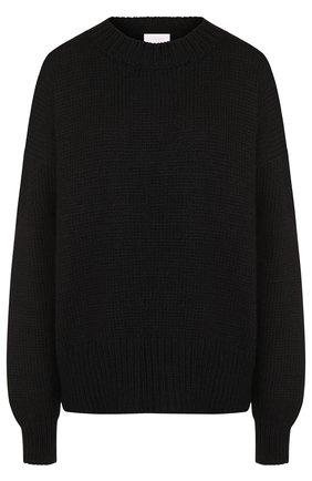 Вязаный шерстяной пуловер со спущенным рукавом | Фото №1