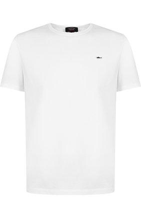 Хлопковая футболка с круглым вырезом Paul&Shark синяя | Фото №1