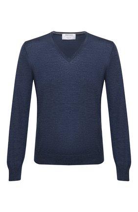 Мужской пуловер из шерсти и шелка GRAN SASSO синего цвета, арт. 57115/13190 | Фото 1