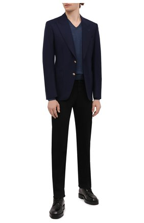 Мужской пуловер из шерсти и шелка GRAN SASSO синего цвета, арт. 57115/13190 | Фото 2