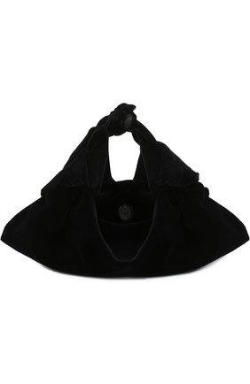 Сумка Ascot из бархата The Row черного цвета | Фото №1