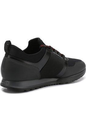 Комбинированные кроссовки на шнуровке Hogan черные | Фото №4