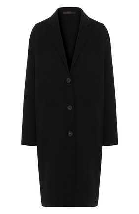 Однотонное пальто из смеси шерсти и кашемира | Фото №1