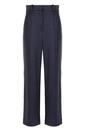 Укороченные шерстяные брюки со стрелками The Row темно-серые | Фото №1