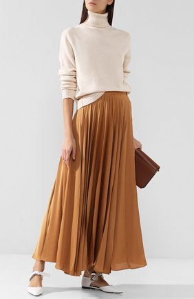 Однотонная юбка-миди в складку