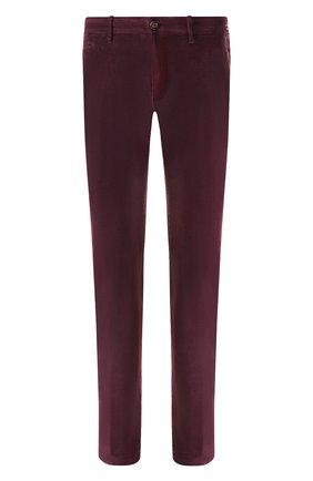 Хлопковые брюки прямого кроя Jacob Cohen зеленые | Фото №1
