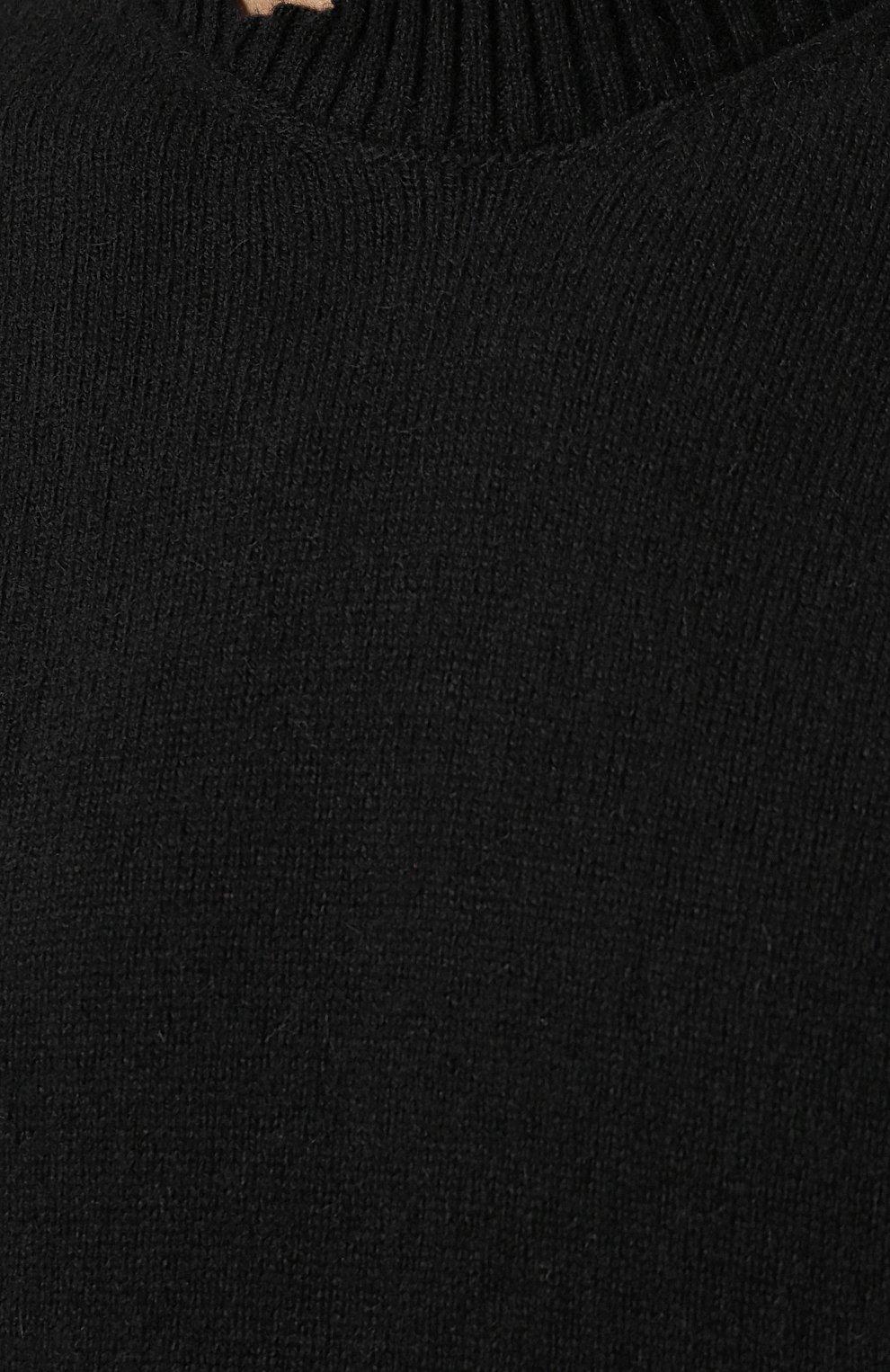 Шерстяной джемпер тонкой вязки с перфорацией Diesel черный   Фото №5