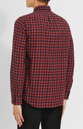 Хлопковая рубашка с воротником кент Diesel красная | Фото №4