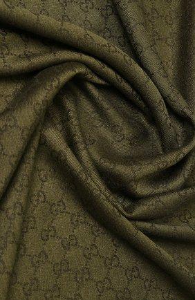 Платок из шерсти и шелка с бахромой | Фото №2