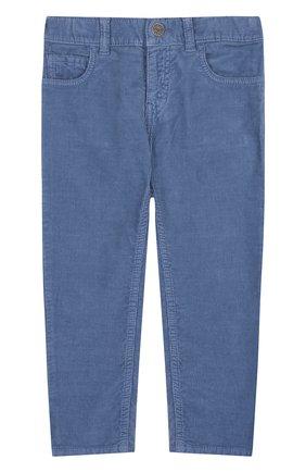 Вельветовые брюки прямого кроя | Фото №1