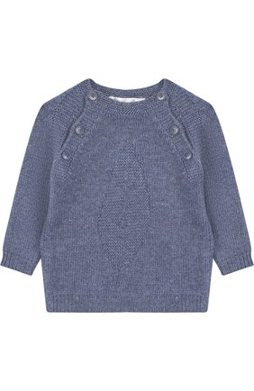 Детский кашемировый пуловер LORO PIANA голубого цвета, арт. FAG3935 | Фото 1