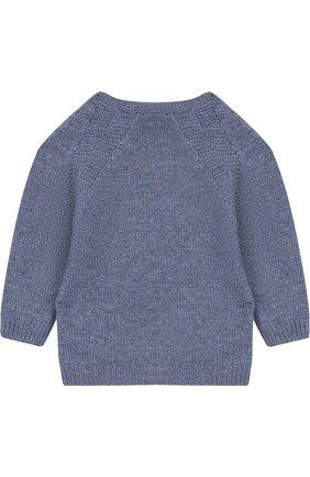 Детский кашемировый пуловер LORO PIANA голубого цвета, арт. FAG3935 | Фото 2