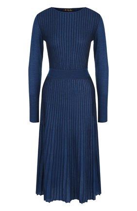 Плиссированное платье-миди из смеси кашемира и шелка | Фото №1