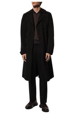 Мужское шерстяное поло GRAN SASSO темно-коричневого цвета, арт. 45132/14790 | Фото 2