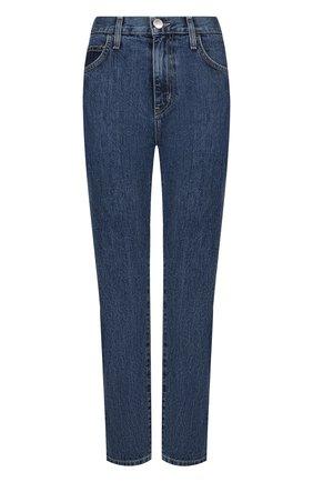 Укороченные джинсы с потертостями Current/Elliott синие   Фото №1