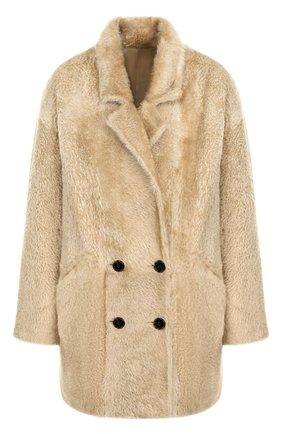 Двубортное меховое пальто | Фото №1