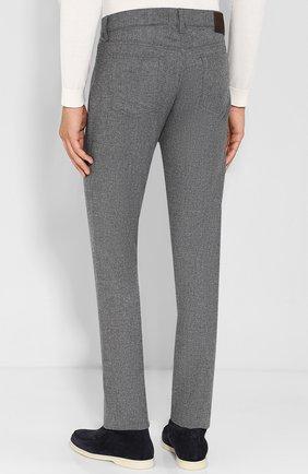 Шерстяные брюки прямого кроя | Фото №4