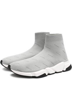 Текстильные кроссовки Speed с принтом | Фото №1