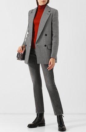 Женские кожаные ботинки на шнуровке с молнией GIANVITO ROSSI черного цвета, арт. G70695.20CU0.VIPNER0 | Фото 2