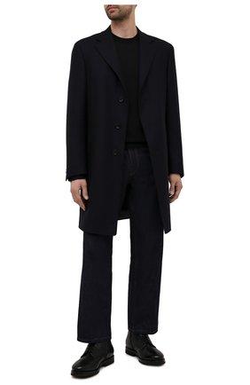 Мужские кожаные ботинки H`D`S`N BARACCO черного цвета, арт. 58513.3* | Фото 2 (Мужское Кросс-КТ: Ботинки-обувь, зимние ботинки; Подошва: Плоская; Материал утеплителя: Овчина, Натуральный мех; Статус проверки: Проверено, Проверена категория)