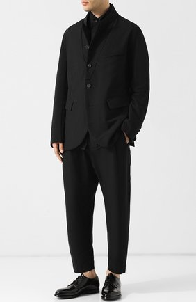 Классические кожаные дерби Officine Creative черные   Фото №1