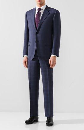 Мужские классические кожаные оксфорды SANTONI черного цвета, арт. MCCR16229MC1HVVDN01   Фото 2