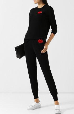 Шерстяные джоггеры с декоративной отделкой Markus Lupfer черные | Фото №1