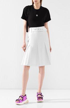 Женская хлопковая футболка STELLA MCCARTNEY черного цвета, арт. 457142/SLW23 | Фото 2