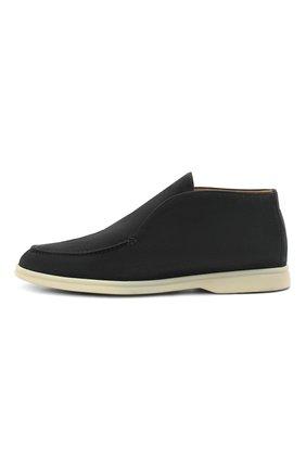 Мужские замшевые ботинки open walk LORO PIANA темно-синего цвета, арт. FAB4368 | Фото 2