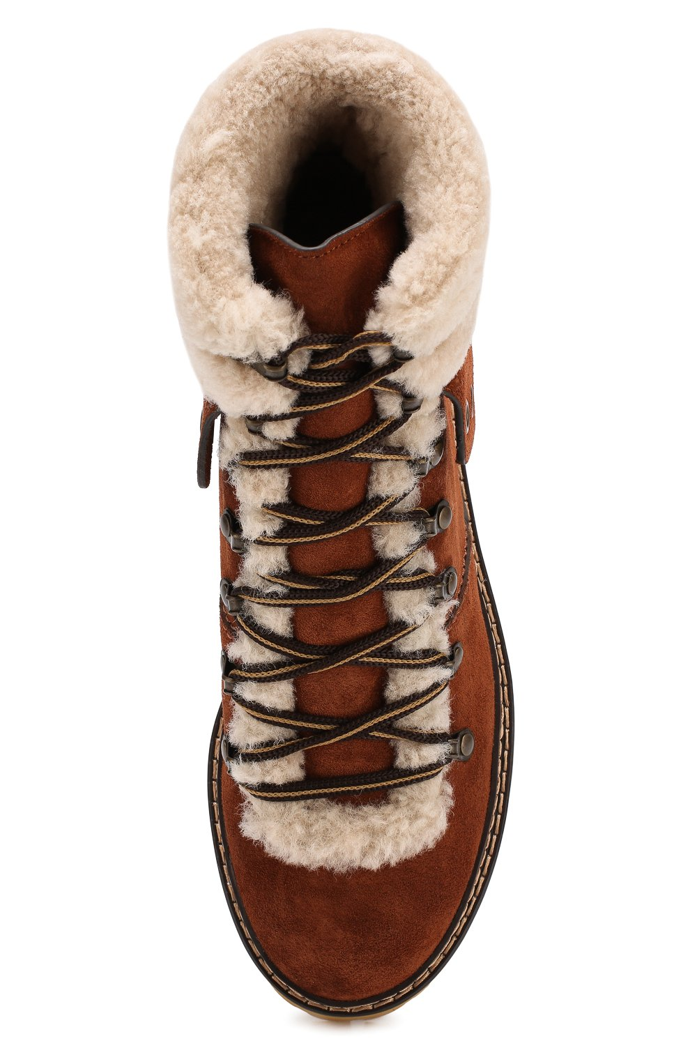 b136172eeaaa Замшевые ботинки с внутренней отделкой из овчины See by Chloé коричневые    Фото №5