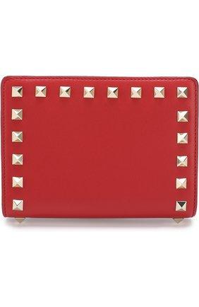 Кожаный чехол для паспорта Valentino Garavani Rockstud | Фото №1