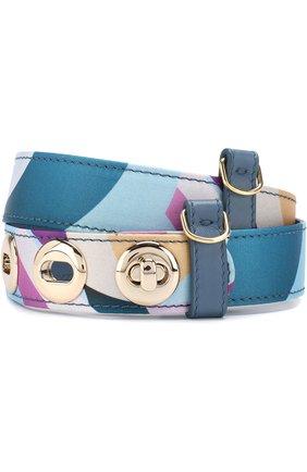 Текстильный ремень с принтом Emilio Pucci разноцветный | Фото №1